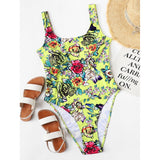 Flower Print Swimsuit