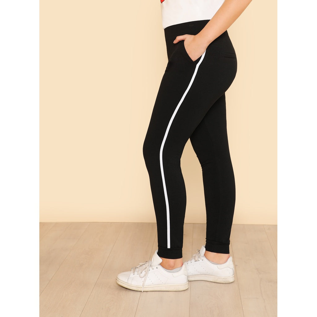 Contrast Binding Side Leggings
