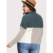 Cut And Sew Color Block Jumper