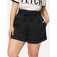 Pocket Side Belted Shorts
