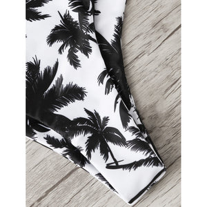 Coconut Tree Print Mixed & Match Bikini Set