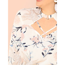 Crisscross Cut Out Neck Bell Sleeve Top