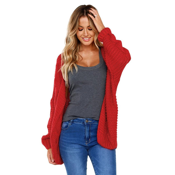 malianna Women Long Sleeve Long Cardigan Knitted Sweater Cardigans Autumn Winter Sweaters
