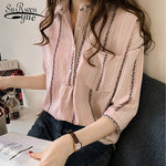 Fashion Plus Size Women's Tops and Blouses 2019 Casual Cothing Female Striped Shirt Women Blouse Shirt Blusa Feminine 1179 40