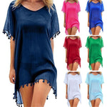 2018 New Summer Dress 10 Colors Tassel Chiffon Tassel Beach Cover Ups Women Beachwear Swimwear Pareo Bathing Suits Cover Ups