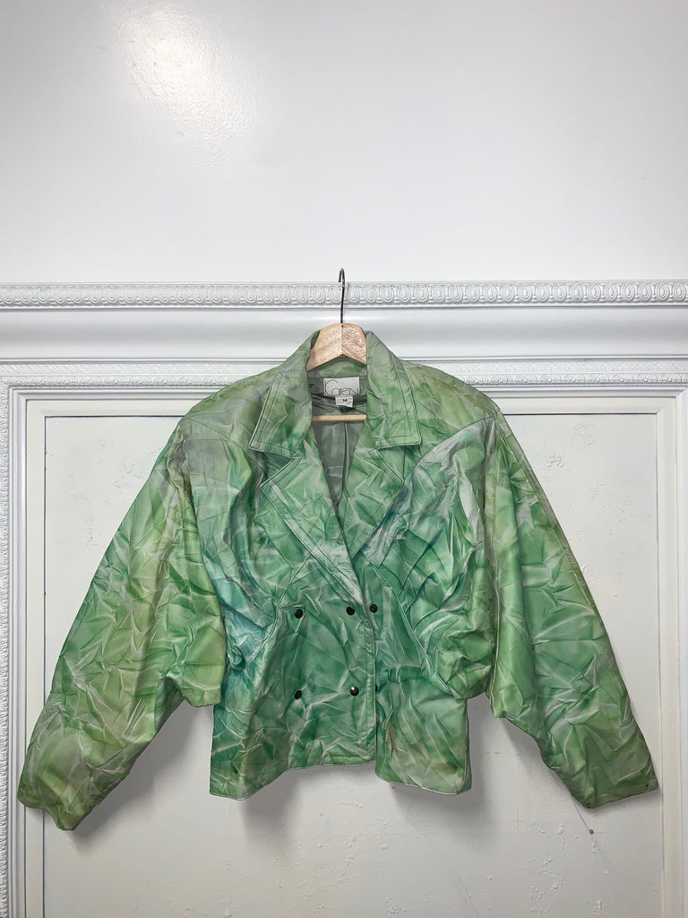 MINT GREEN TIE DYE COAT