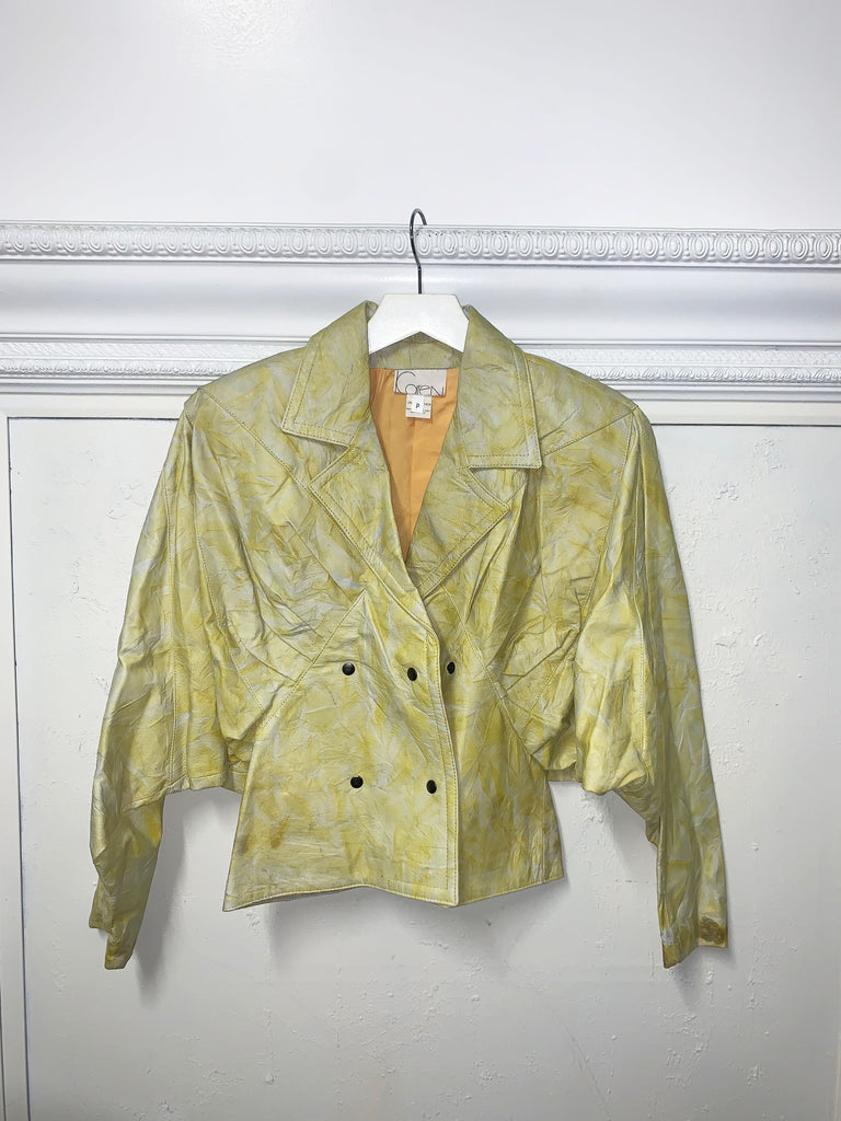 YELLOW TIE DIE COAT