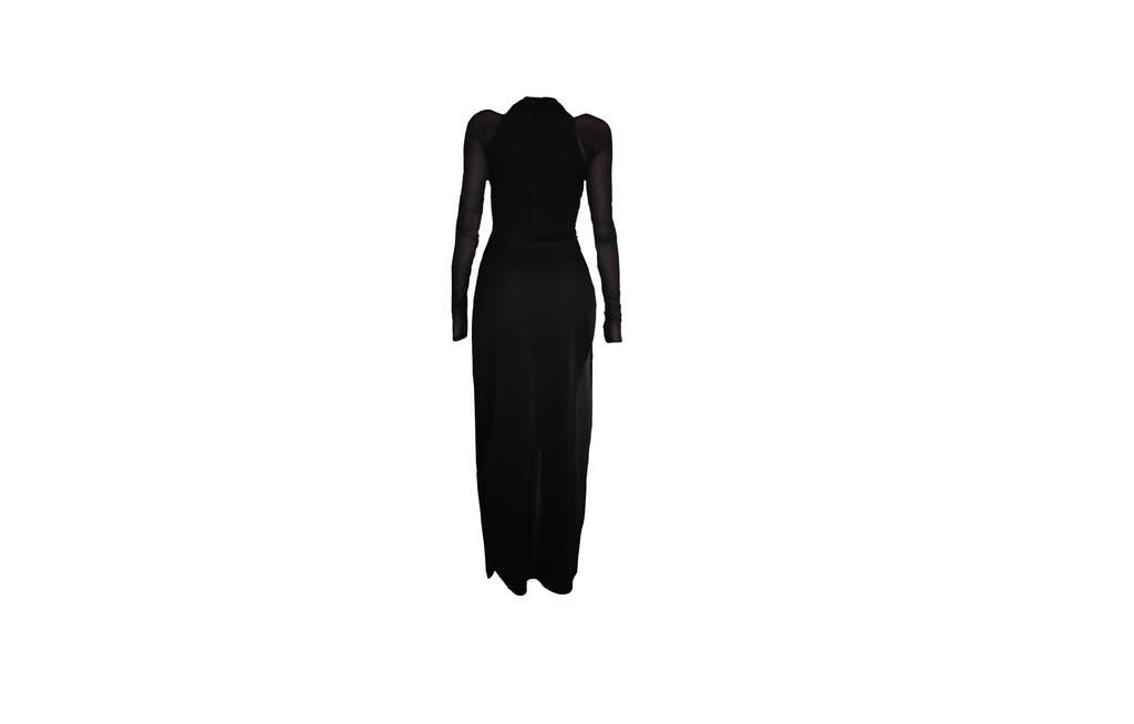 BLACK T NECK  GOWN (MADE TO ORDER)