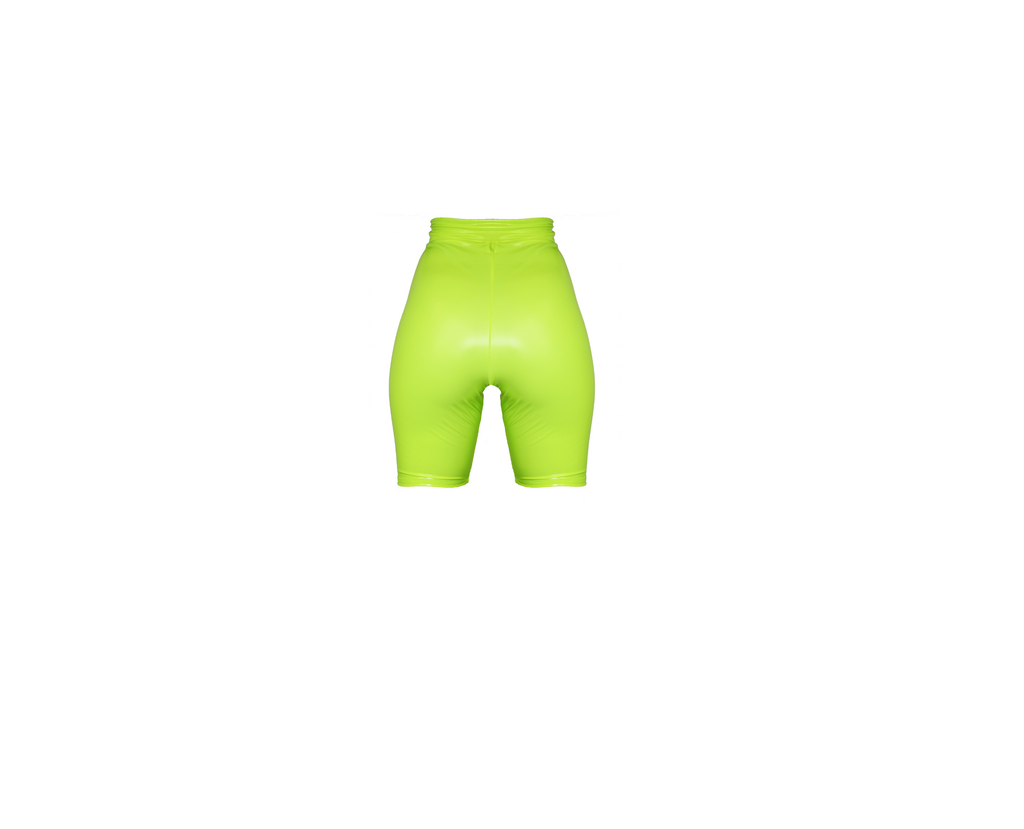 NEON YELLOW BIKER SHORT