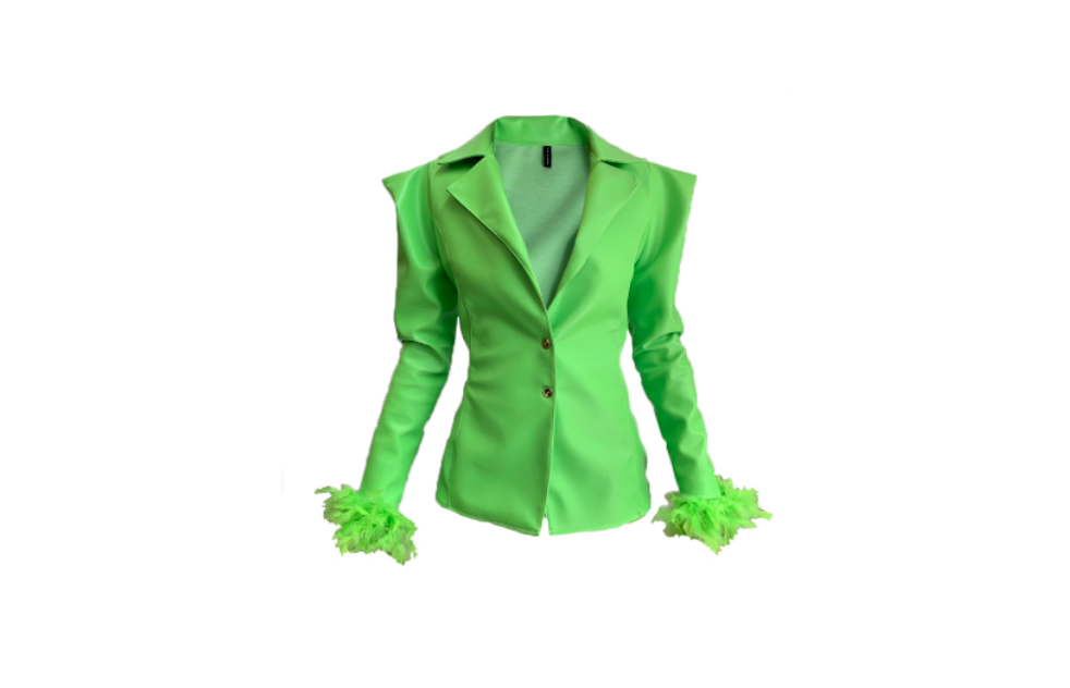LIME GREEN MATTE BLAZER