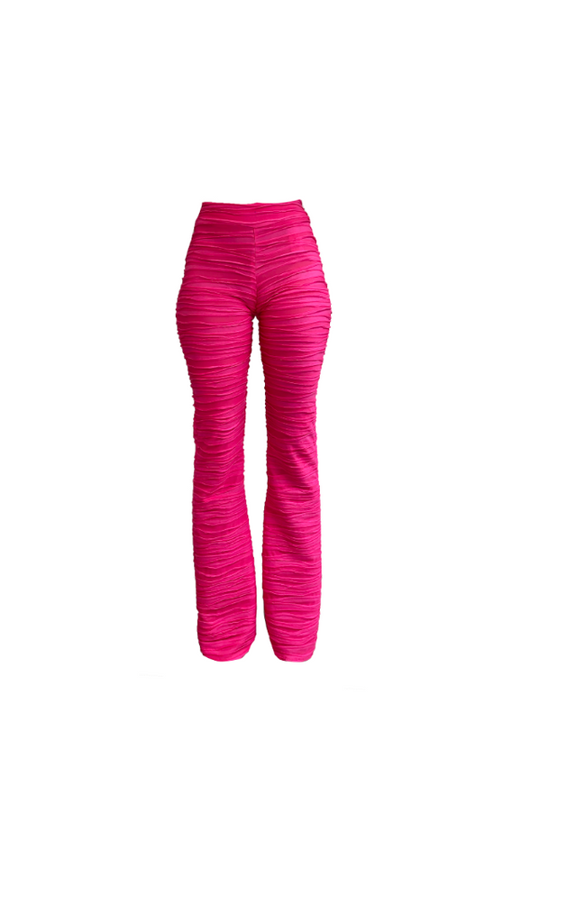 PINK FLARE TROUSER