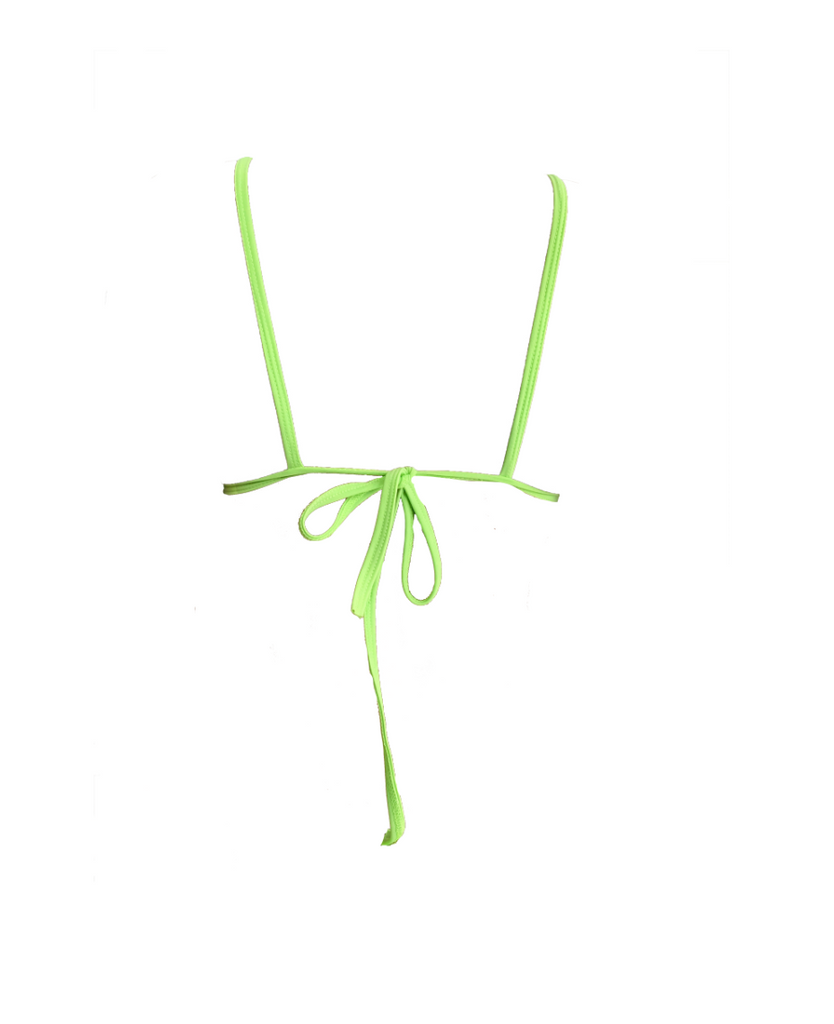 LIME GREEN TULLE BIKINI TOP (MADE TO ORDER)