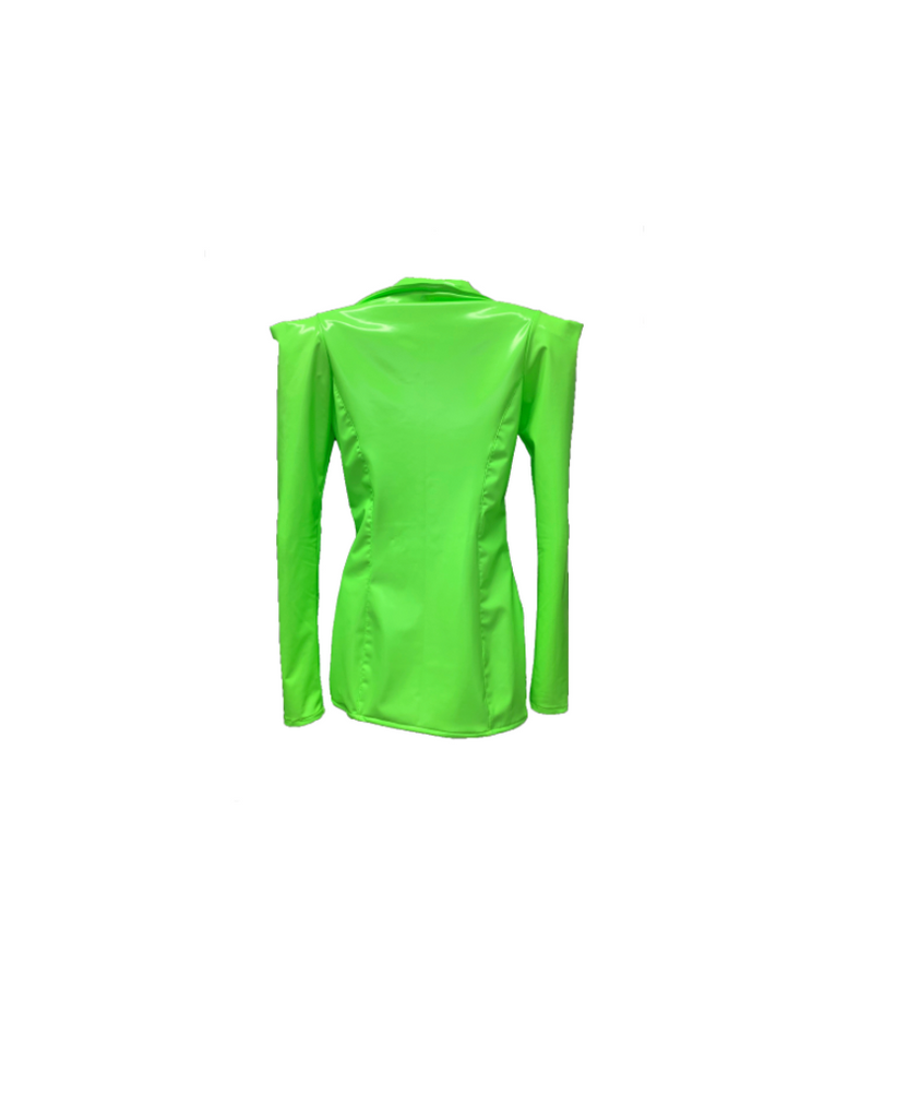 LIME GREEN VINYL BLAZER (MADE TO ORDER)