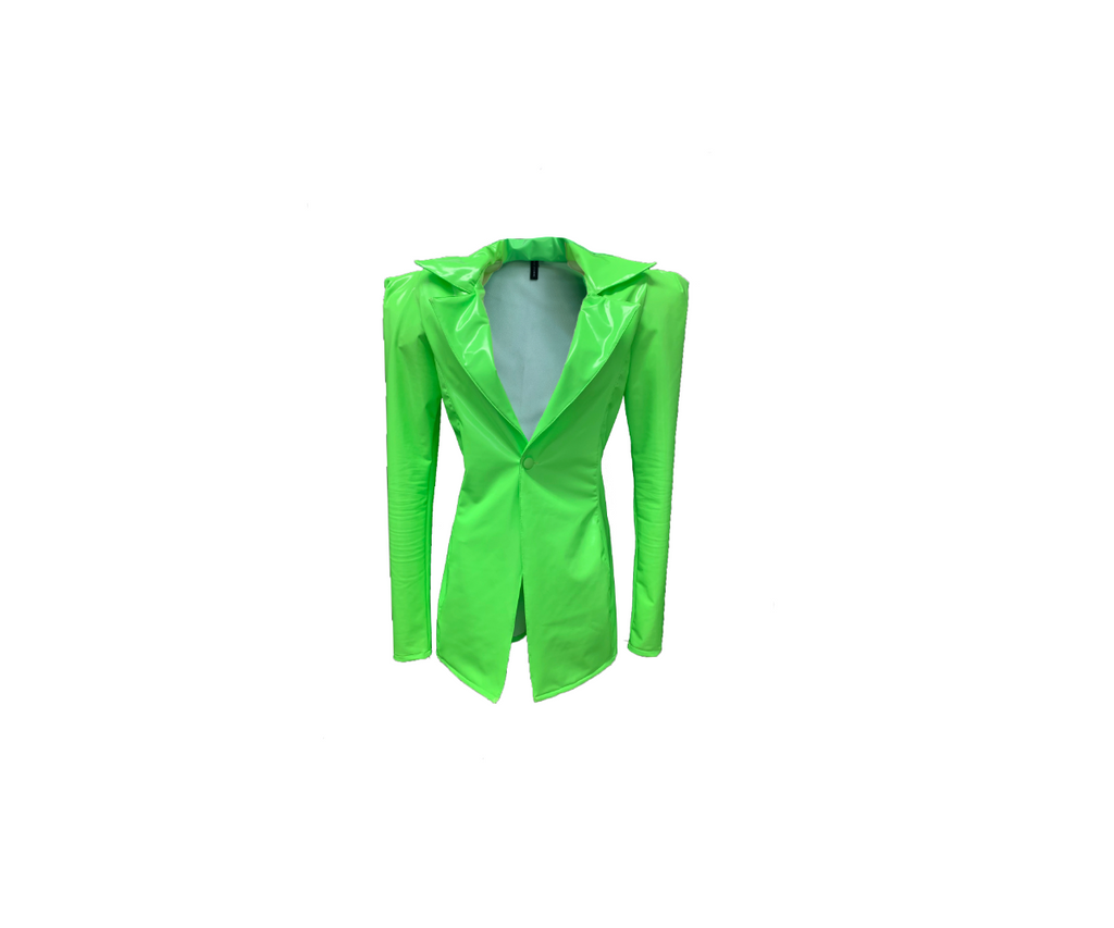 LIME GREEN VINYL BLAZER