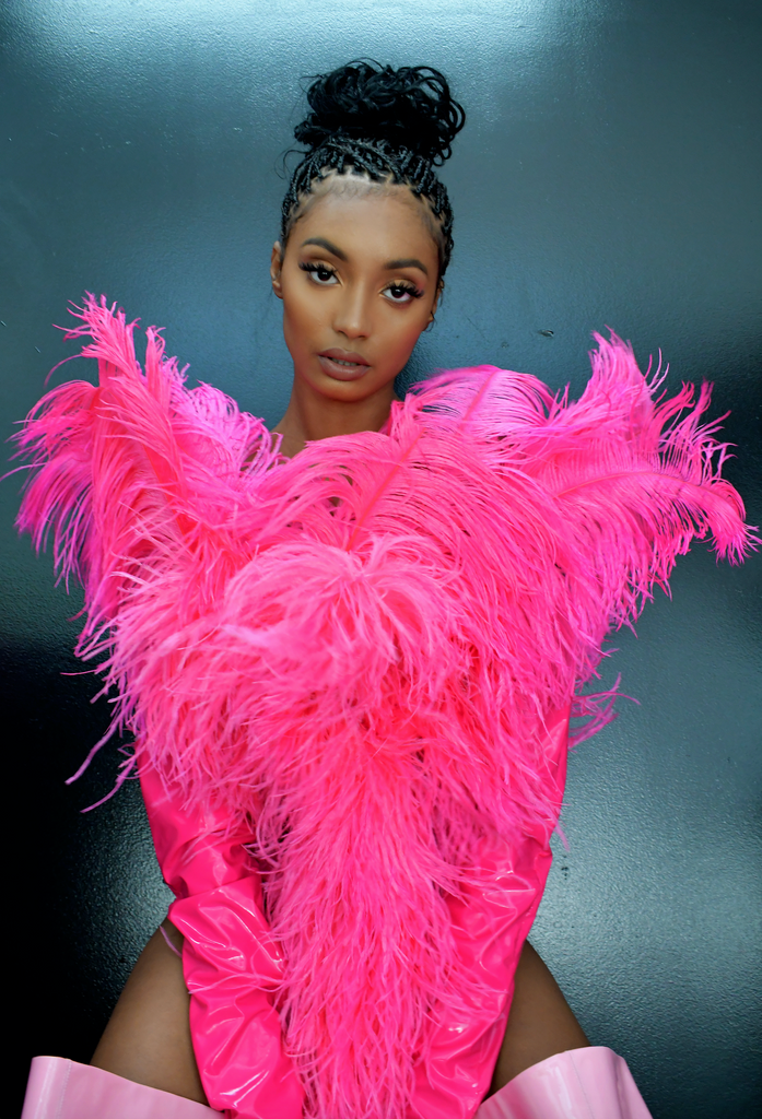 PINK FEATHER BOUQUET BLOUSE