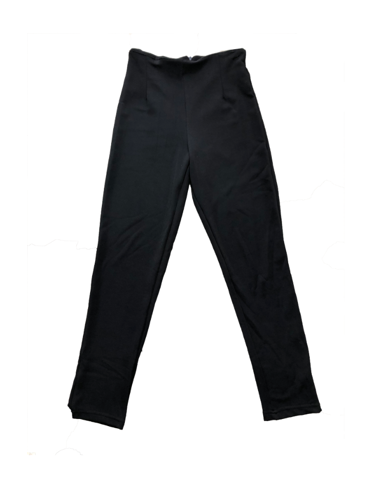 BLACK SKINNY LEG TROUSERS