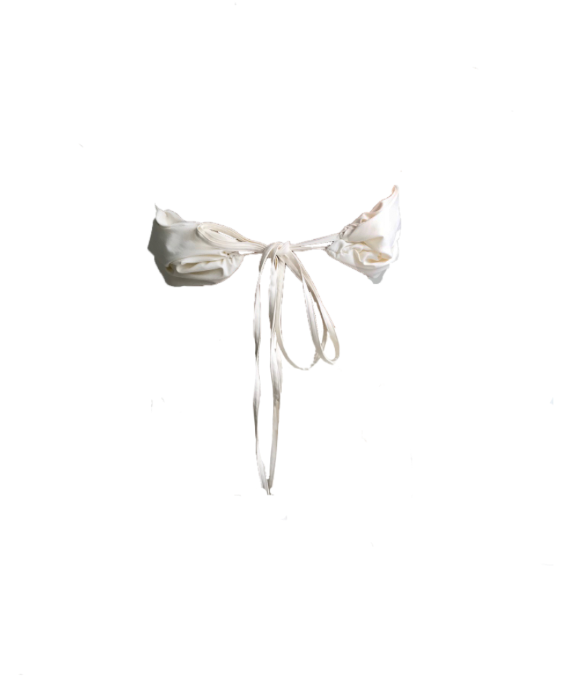 WHITE RUCHED BANDEAU (MADE TO ORDER)