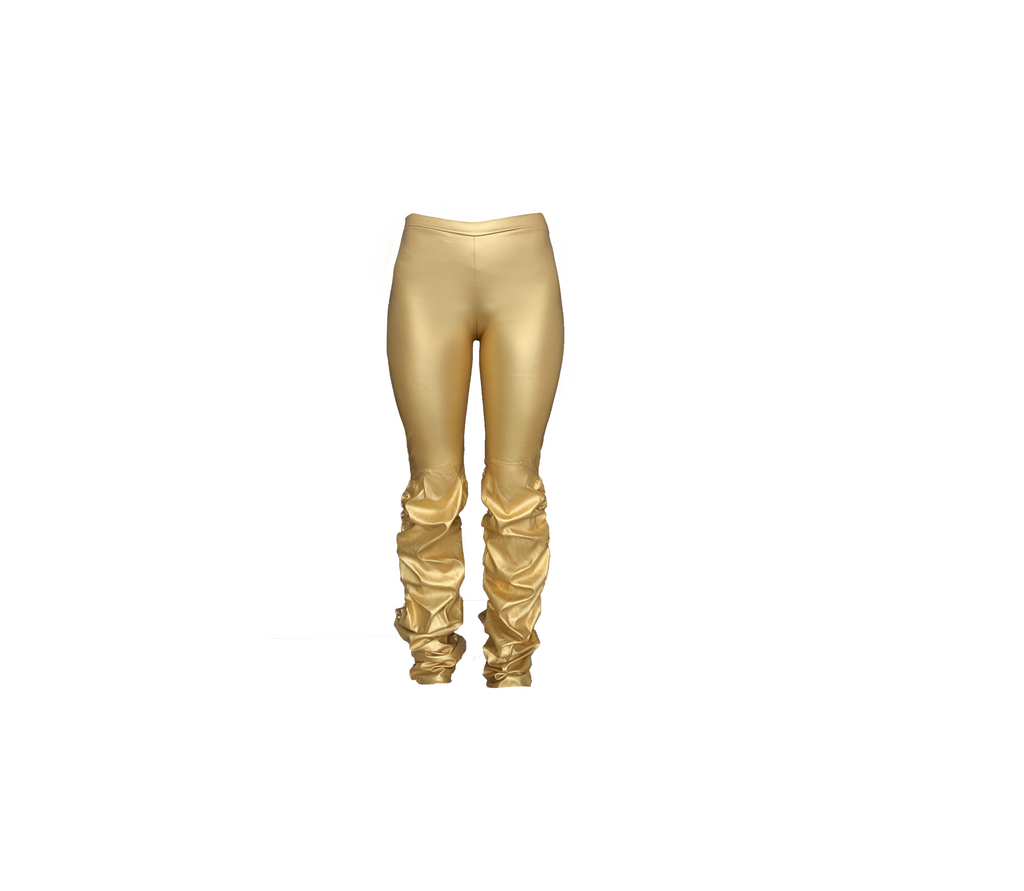 GOLD RUCHED LEGGING