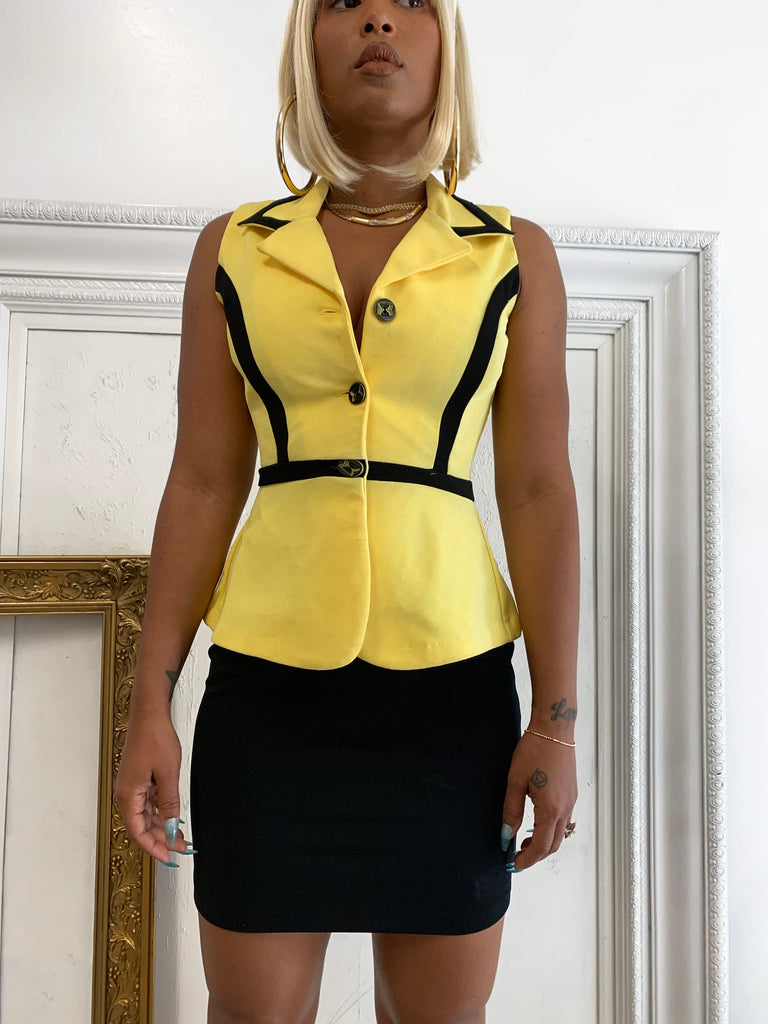 YELLOW TANK BLAZER
