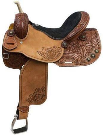 "15"", 16"" Showman ® Argentina Cow Leather Barrel Saddle"