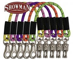 "Showman ® 24"" bungee trailer tie with quick release panic snap and heavy duty bull snap. Color pack"