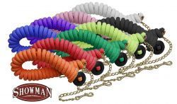 Showman ® 25' soft pro braided cotton line with brass chain and rubber hand stopper on end.