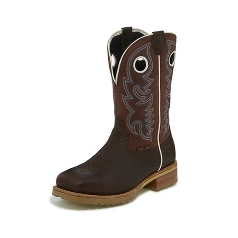 Justin Trailblazer Brown Square Steel Toe-WK4203
