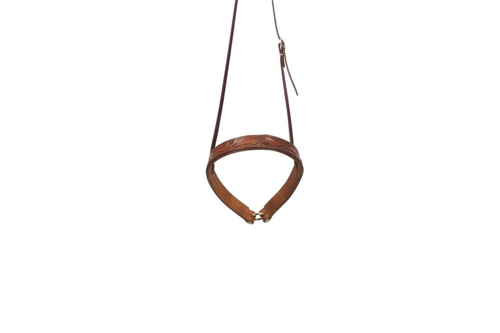 Noseband- Relentless Leather Floral Tooled