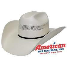 American Hat Co 7104 Vented Shantung Straw Hat