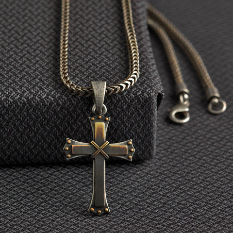 Twister Cross Necklace