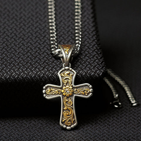 img Twister Cross Necklace