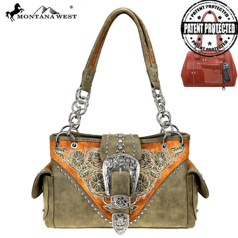 MW795G-8085 Montana West Buckle Collection Concealed Carry Satchel