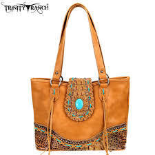 TR80-8317 Trinity Ranch Tooled Leather Collection Tote