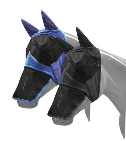 Showman ® Teddy fleece flymask with ears and detachable nose.