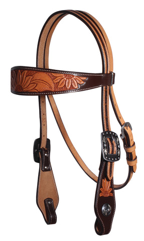 PROFESSIONAL'S CHOICE SUNFLOWER COLLECTION BROWBAND HEADSTALL