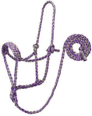 WEAVER-Polyester Braided Rope Halter With 10' Lead.