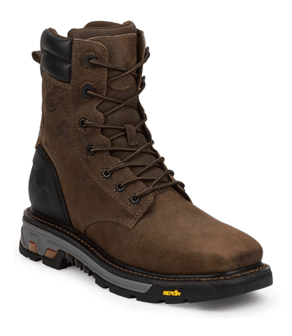 WK201-Justin Men's Commander-X5 Pipefitter Brown Waterproof Steel Toe Work Boots 11-EE