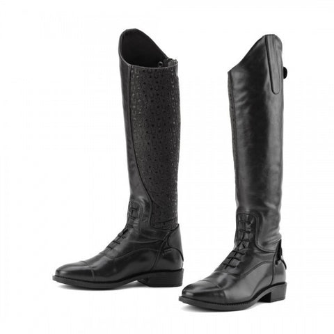 Ovation® Sofia Grip Black Field Boot- Child's Regular, Slim.