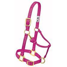 "Weaver Leather- Original Adjustable Chin and Throat, 1"" SmallHorse. Snap Halter."