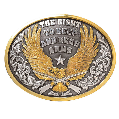 Nocona Mens Oval Bear Arms Buckle