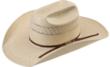 American Hat CO, Tuff Cooper-8810 Straw Cowboy Hat, Crown S, KM Trim 2C Whiskey, Brim 4 1/4 KM.