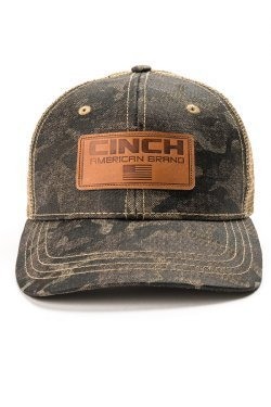 CINCH Men's Camo Trucker Cap Mesh back.