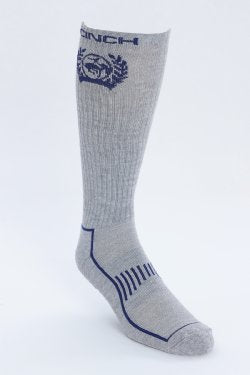 Cinch-Boot Sock made in the USA. Equipped with arch support, targeted cushioning, cooling mesh and moisture wicking technology.
