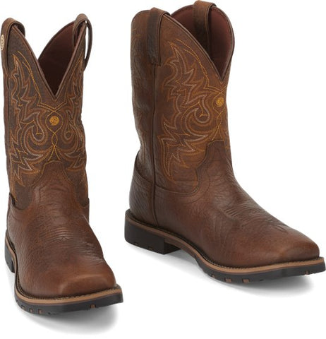 "Justin Men's  George Strait ""Fireman"" Waterproof Cowboy Boots - GS9050"