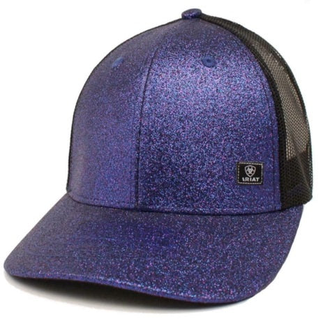A3000053216-Ariat Ladies Cap Glitter Messy Bun Back