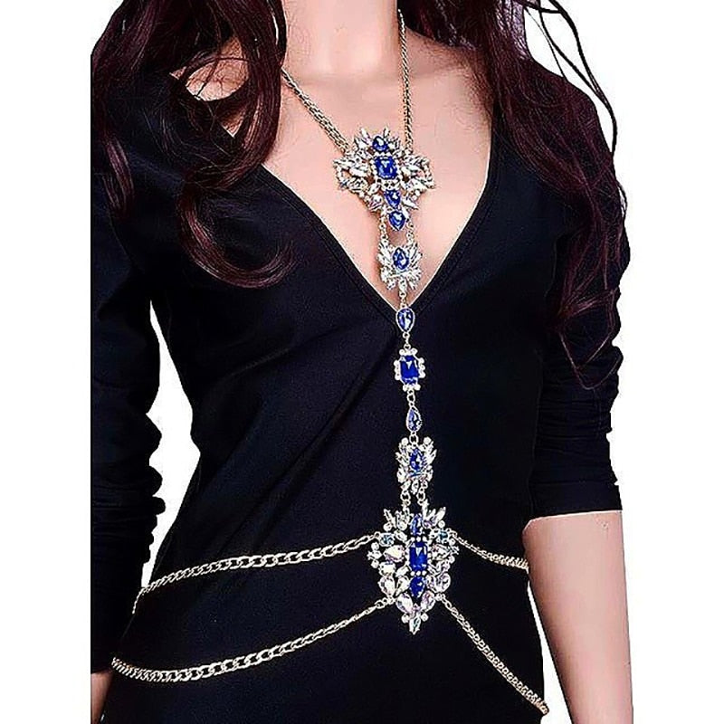 Crystal Necklace&Pendant Sexy Beach Bikini Body Jewelry