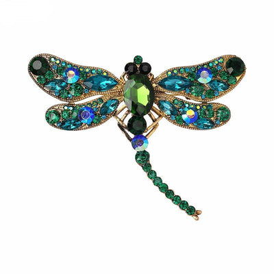 Brooch Accessories Luxury Crystal Dragonfly Brooches for Women