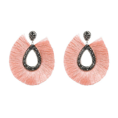 Jewelry Earrings Female Fringed Drop Earrings Bohemian Tassel