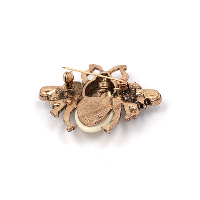 Vintage Crystal Brooches For Women Collar Animal