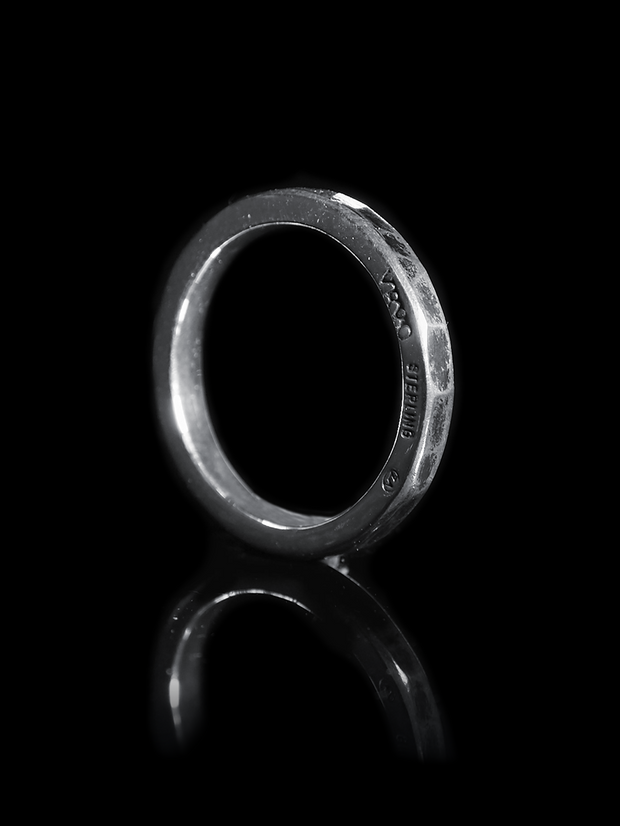 Silver Stacking ring 2